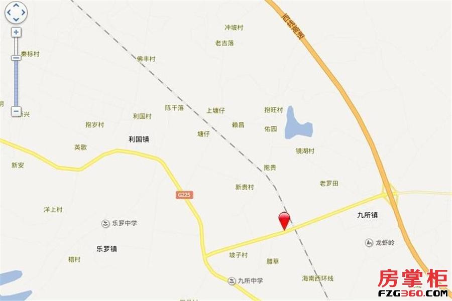 龙栖湾温泉1号交通图