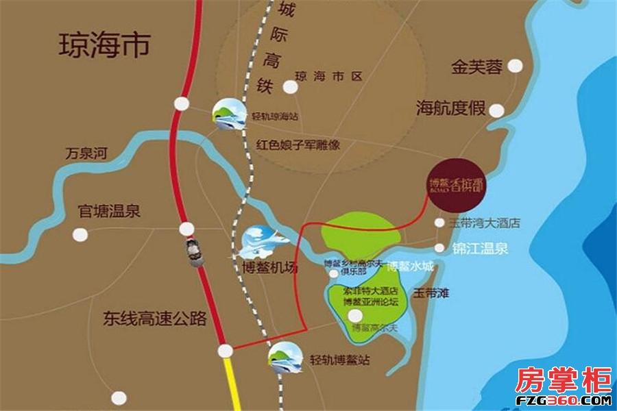 博鳌香槟郡交通图