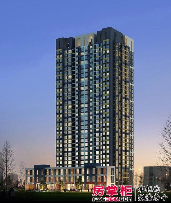 包括了宜居住宅,活力商业两大部分,建筑采现代简约的设计风格,开创图片