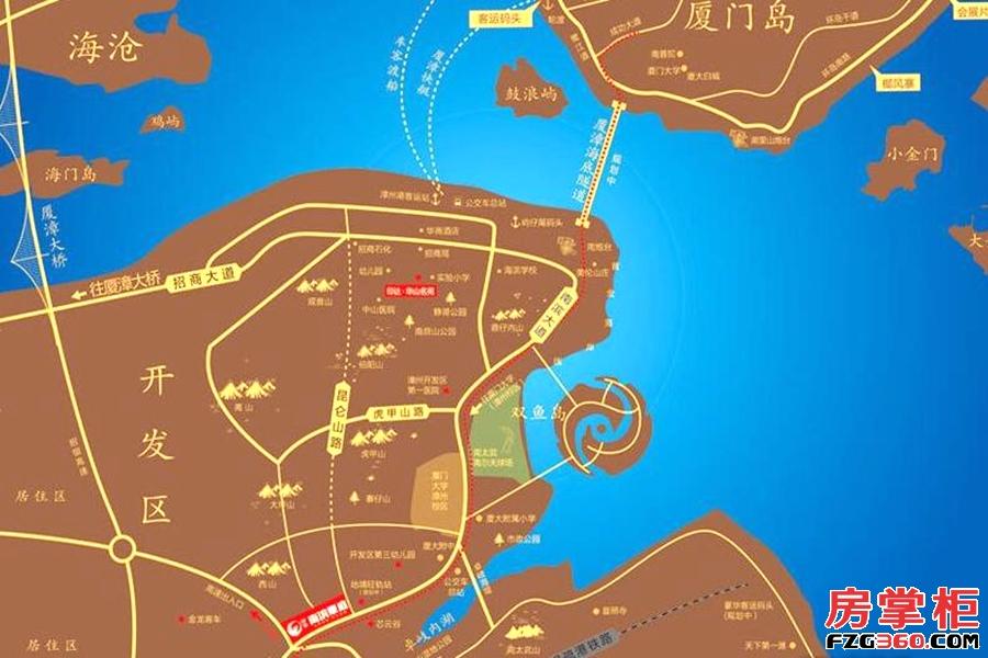 印华南滨豪庭区位图