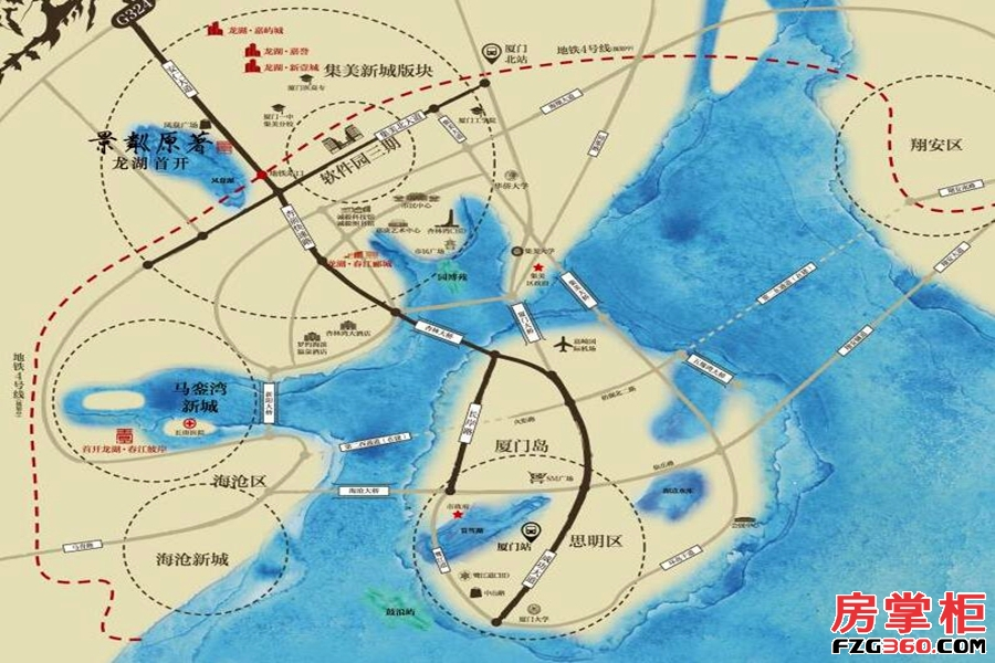 龙湖首开景粼原著区位图
