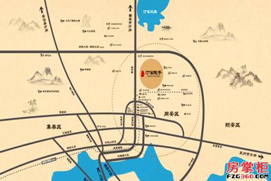 泰禾世茂·汀溪院子区位图