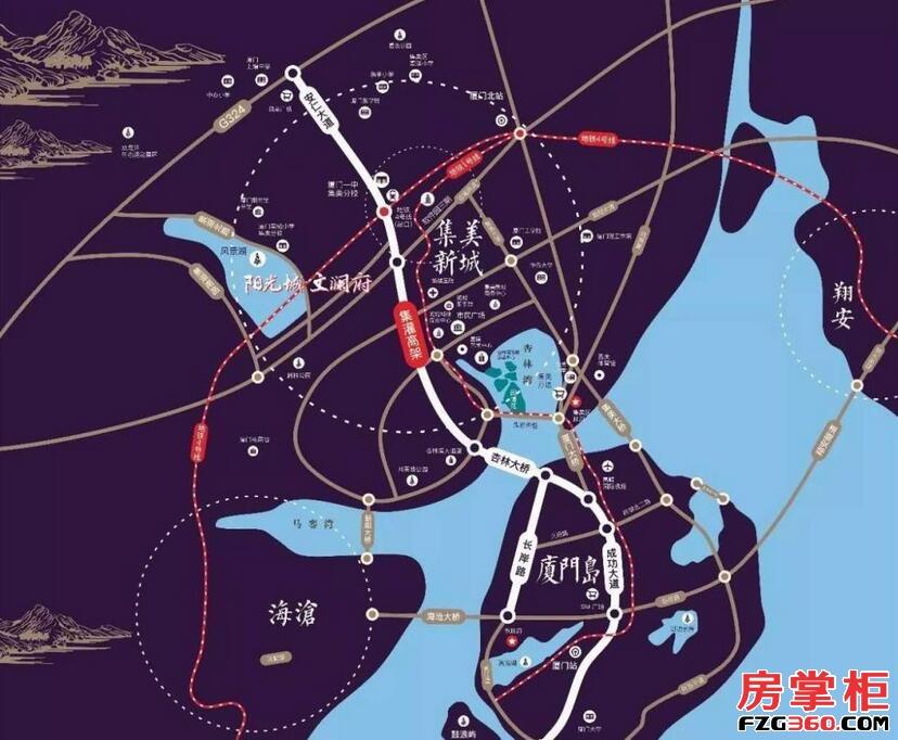 阳光城文澜府区位图