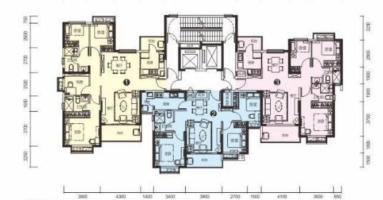 恒大名都3#楼一单元标准层
