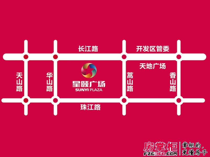 烟台星颐广场交通图区位图