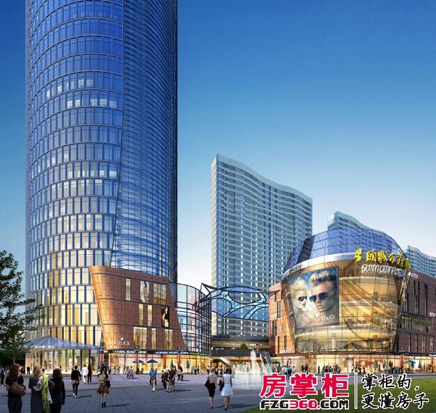 烟台星颐广场外景图商场远景