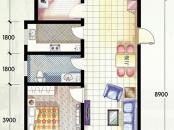 嵛景华城户型图86#,87#,90#A户型 3室2厅1卫