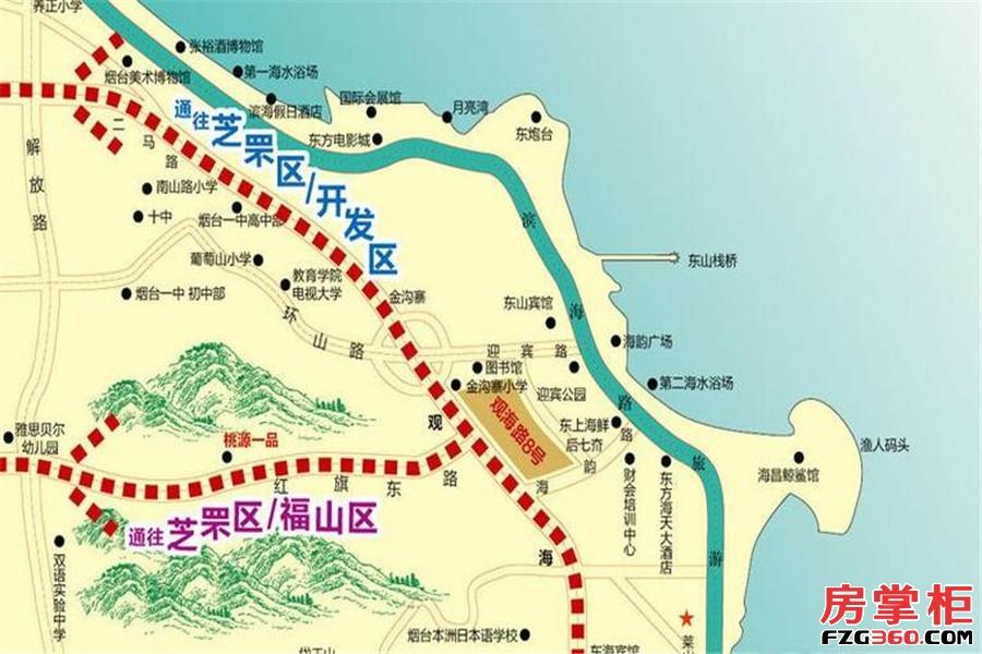 观海路8号交通图