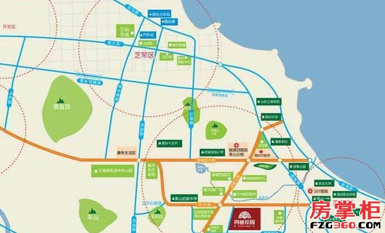 同德花园交通图