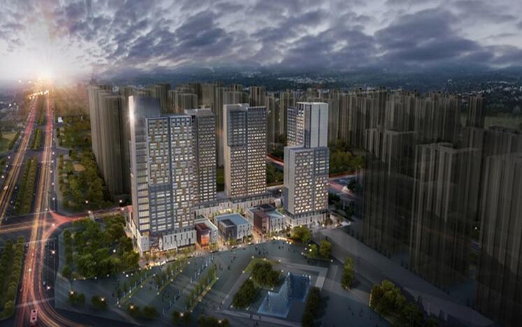 万科城总建筑面积约320万㎡,将于郑州高新区打造新都心r26;湖心岛畔